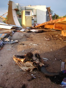 Pine Ridge Reservation wind shear damage