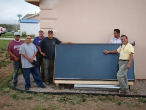 solar heater_southern ute tribe