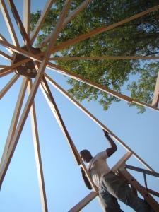 straw bale frame_Pine Ridge