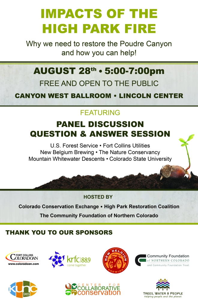 Impacts of the High Park Fire_event poster