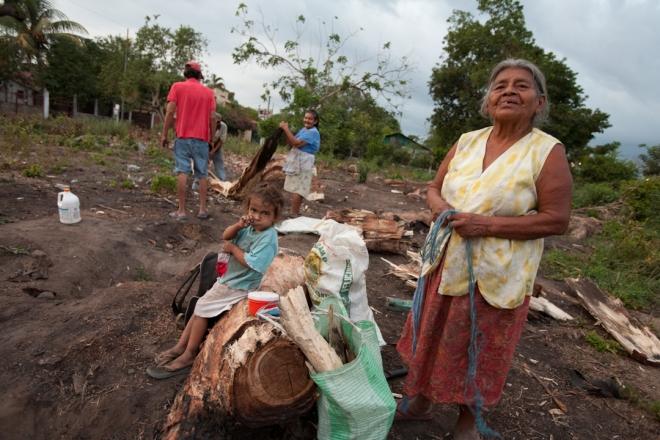 gathering firewood Guatemala