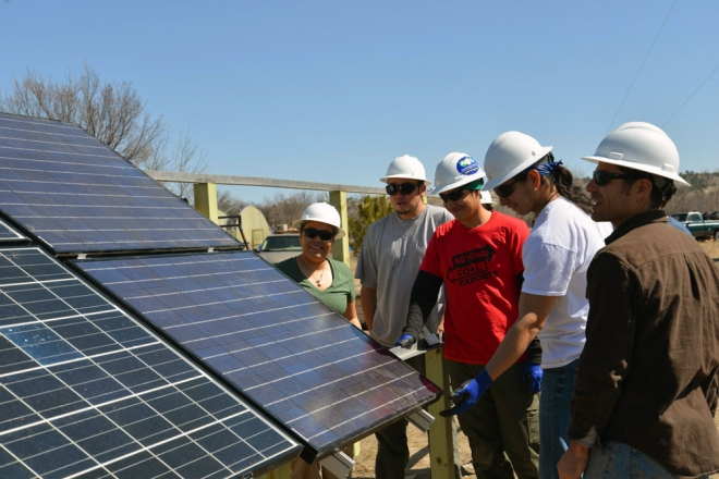 solar PV training at Pine Ridge