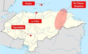 Rio Platano Biosphere map