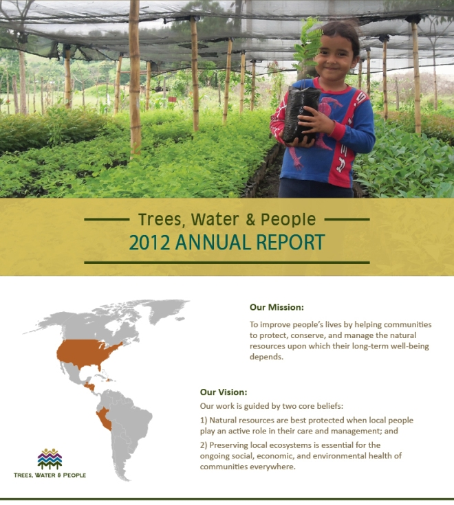 Trees, Water & People annual report 2012