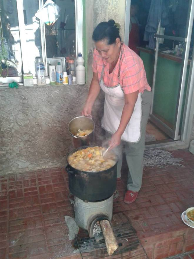cooking on clean cookstove
