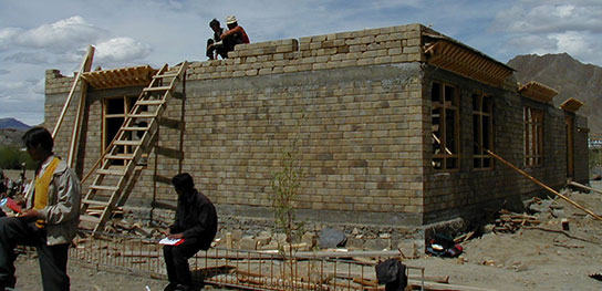 earth block building