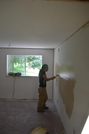 Keeping the volunteers busy!