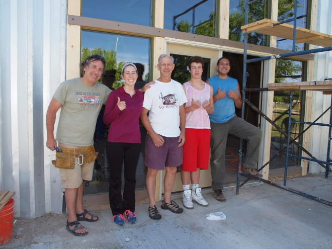 Dedicated volunteers have helped build the Sacred Earth Lodge from the ground up!