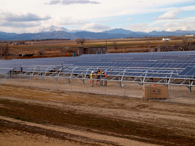 1 megawatt Solar Garden Colorado