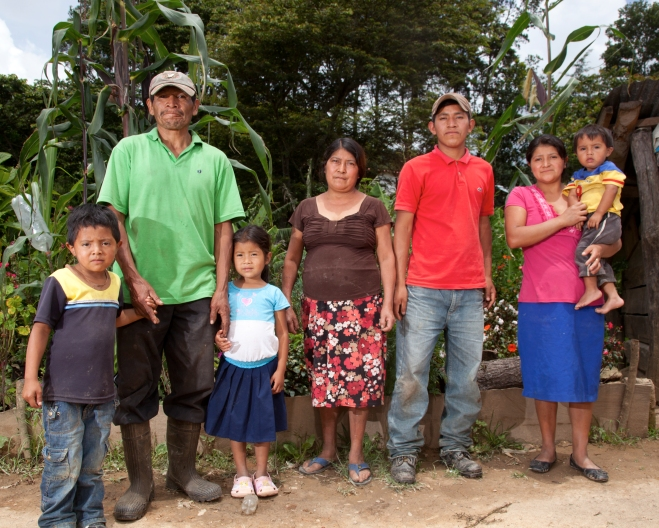 Rodrigo Santos with his family in La Paz, Honduras.