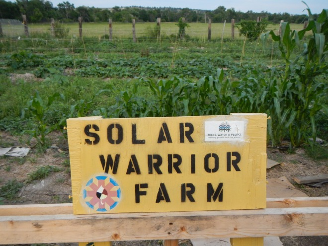 Solar Warrior Farm sign