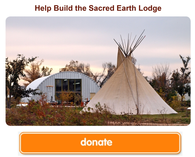 help build Sacred Earth Lodge
