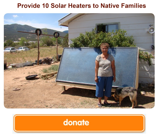 soalr heaters for Native American families