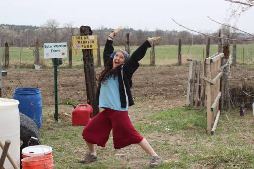 Solar Warrior Farm volunteer