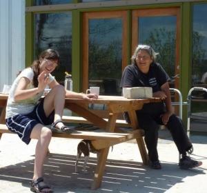 Anna Dunlap and Caroline Cuny