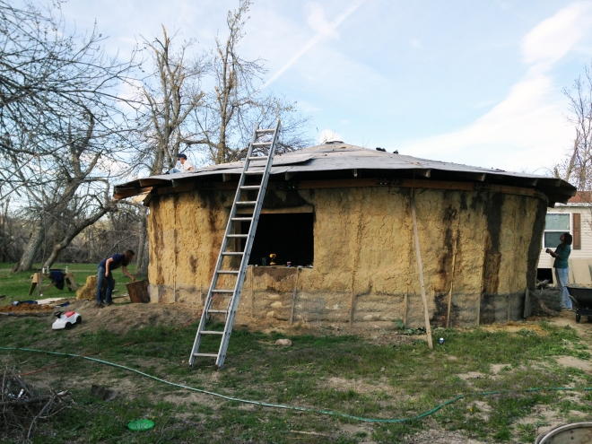 straw bale home