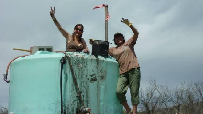 water tank Solar Warrior Farm