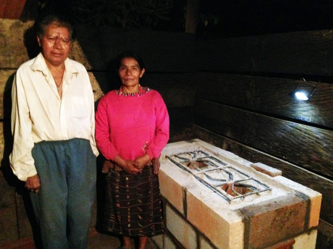 It was a community effort to build Marco and Nati's new clean cookstove.