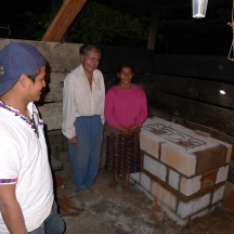 Marco and Nati with their new cookstove