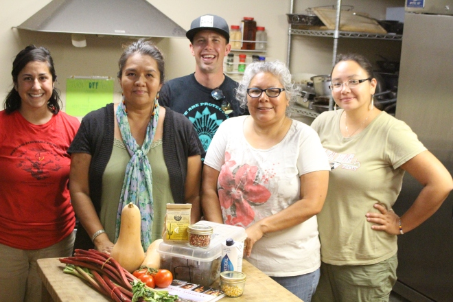 Students learned about food sov from growing to cooking local.