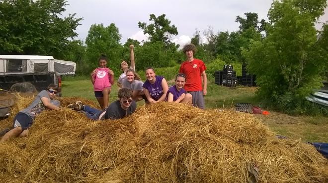Volunteer power at Solar Warrior Farm!