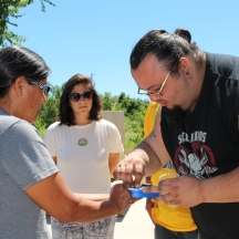 The Solar Energy Workshop began at the Red Cloud Renewable Energy Center, where students learned some basics of solar energy.