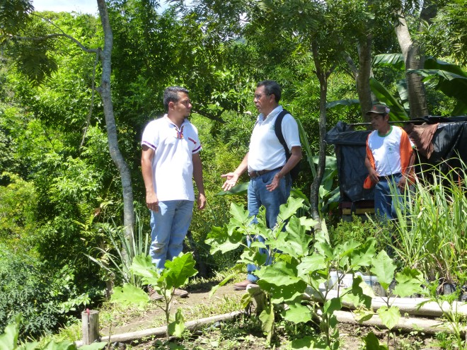 Oscar (left) and Armando are working to improve the environment and livelihoods in Panchimalco.