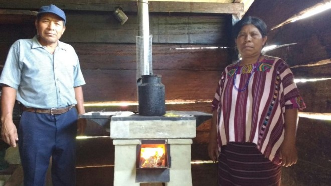 Natividad Ortiz, who is the third beneficiary of the stoves in the community of El Tarral