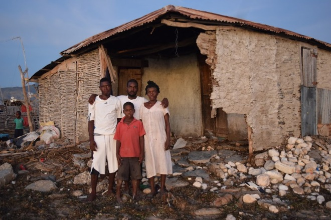 family in northwest Haiti